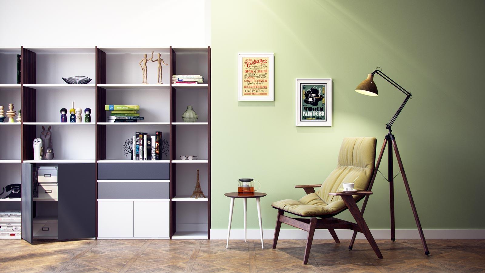 Moderne Wohnwand Selbst Gestalten Regale Bei Mycs